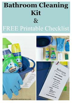 Bathroom Cleaning Kit with FREE Printable Checklist {ad} #savewithbubbles
