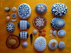crochet stone covers
