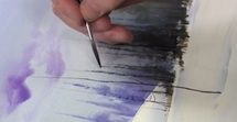 BRUSH WORK - Watercolor Tutorial: Brush Techniques  Paint Stroke Lessons