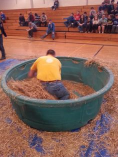 Penny in a haystack challenge. Holton FFA - www.OneLessThing.net