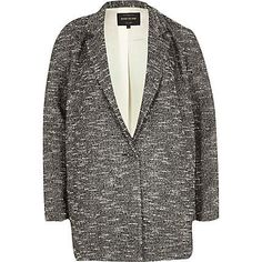 Black oversized tweed jacket $110.00