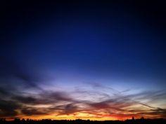 Sunset over Lynden — color version.