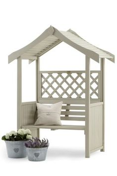 Relaxing in the garden just got a whole lot more enjoyable with this Salisbury Arbour seating furniture. Pop in the corner in your garden and invite the friends over to give it a test ride. Decor, Furniture, Memorial Garden, Home, Garden Seating, Rustic Pergola, Outdoor Living, Door Furniture Plans, Garden Furniture