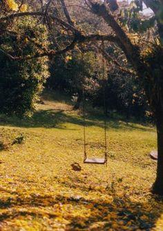I miss the swing in my old backyard Robert Louis Stevenson, Outdoor Spaces, Outdoor Decor, Outdoor Fun, Outdoor Living, Interior Exterior, Garden Inspiration, Writing Inspiration, The Great Outdoors