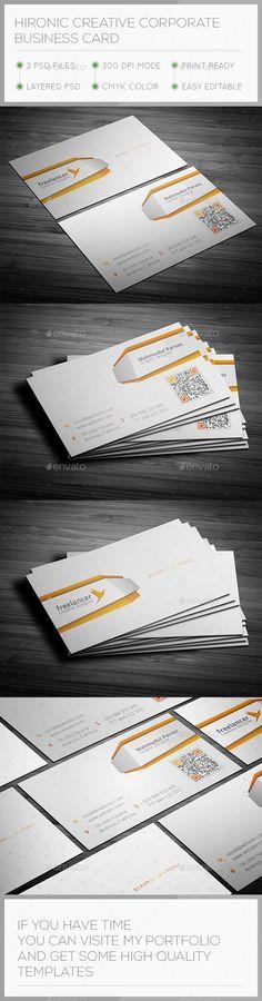 Hironic Creative Business Card  #template #creative #business