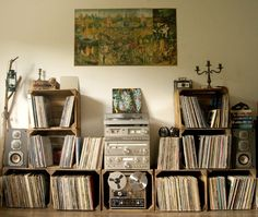 "arterrorist: ""New setup - all vintage audio gear on one stack """