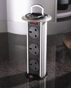 Kitchen - Need to keep this pop-up power outlet idea in mind! If I ever get a chance to redo my kitchen I am so going thid
