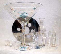 Oversized Handpainted Chiller Shot Martini Set by Vineyard Road Home, $42.00