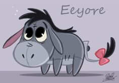Eeyore!...My favorite Pooh character...not much of a suprise is it Julie?