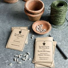 Cute seed packet printable and gift idea from Country Living Magazine