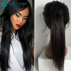 Find More Human Wigs Information about 130% density Long straight Full Lace wig/Front Lace wigs brazilian human hair wig full lace wigs for black women high ponytail,High Quality wig curly,China wigs men human hair Suppliers, Cheap wig stock from Luffy Wig Store on Aliexpress.com