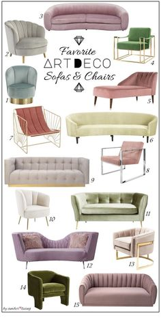 Favorite Art deco Upholstery: Sofas and accent chairs #artdecointerior Art deco ... #Artdecofurniture