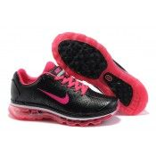 c81d3deaf94f8b Nike Air Max 2011 Leder Frauen Trainern perforate schwarz   wässrige rote Nike  Shoes Outlet