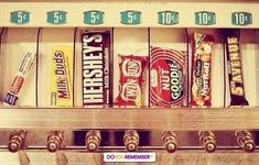 1950s Candy Machine . Candy bars 5 cent & 10 cents