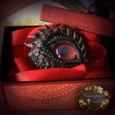 This dragon eye (WOW) would make a fantastic brooch