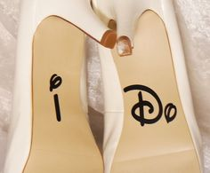 I Do Wedding Shoe Decals High Heel Decals by CraftyWitchesDecor