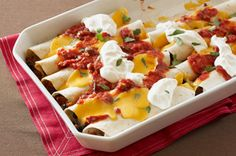 Fiesta Beef and Black Bean Enchiladas
