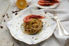 Cibo: #Mare  #sale  vento ovvero Chitarrone con pesto di pistacchio e gamberi marinati al... (link: http://ift.tt/2cVNMbv )