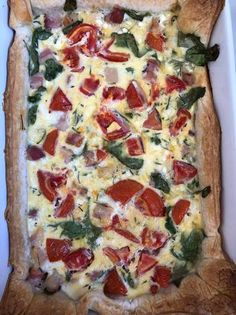 Spenótos quiche Quiche, Hawaiian Pizza, Vegetable Pizza, Food And Drink, Pie, Vegetables, Torte, Cake, Fruit Pie