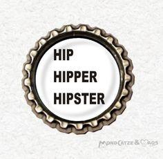 -h007- Kronkorken Magnet HIPSTER , € 2,80 , bottlecap , erhältlich auf http://de.dawanda.com/shop/Mondcatze