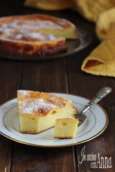 No Bake Desserts, Dessert Recipes, Ricotta Cake, Strudel, Easy Cooking, Wine Recipes, Italian Recipes, Cheesecake, Food And Drink