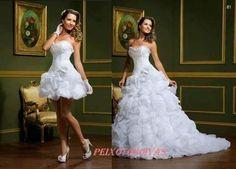 vestidos debutantes 2 em 1 na cor branca