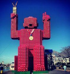 Porky Hefer Design - Made from 4200 Coca-Cola crates.