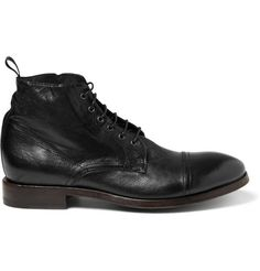 Paul Smith Shoes & AccessoriesTextured-Leather Lace-Up Boots