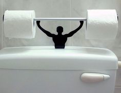 Strong Man Toilet Paper Holder - ReflectionOf.Me