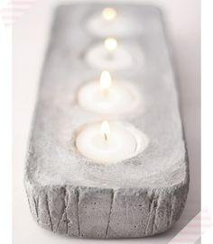 moderne Kerzenhalter selber bauen