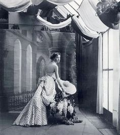 1948 - Schiaparelli's evening gown photographed by Richard Avedon