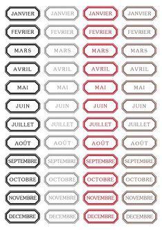Les mois de l'anée a imprimer
