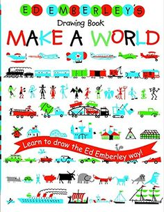 Ed Emberley's Drawing Book: Make a World by Ed Emberley . Very simple for people who don't know to draw, and kids who are afraid to draw. Garanteed fun.