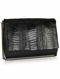 Naledi Copenhagen  Ostrich and Leather bag