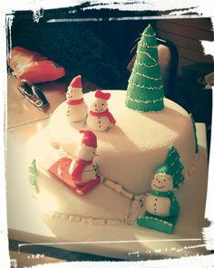 Torta navideña fondant