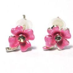 Earring Flower Donkerrozekids
