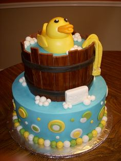 @KatieSheaDesign ❤ #Cakes ❤♥ ❥ Rubber Ducky Baby Shower Cake