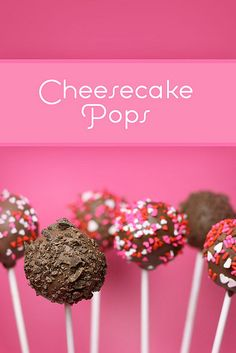 Cheesecake Pops by Bakerella, via Flickr