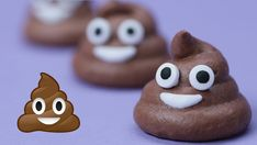 """""""Today I made Pile of Poo Emoji Chocolate Meringue Cookies! I really enjoy making nerdy themed goodies and decorating them. I'm not a pro, but I love baking a."""" (ive read it started out as ice cream. Birthday Treats, Party Treats, Chocolate Meringue Cookies, Emoji Cake, Poo Emoji Cupcakes, Unsweetened Cocoa, Food Art, Kids Meals, Sweet Treats"""
