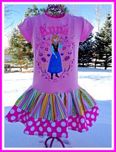 RTS girls FROZEN Princess Anna Disney by BlossomBlueBoutique, $36.99