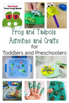 Hopping mad frog-themed crafts and activities for toddlers and preschoolers ideal for spring based learning and fun in and out of the classroom. Frog Activities, Preschool Learning Activities, Animal Activities, Spring Activities, Preschool Activities, Nature Activities, Kindergarten Science, Time Activities, Outdoor Activities