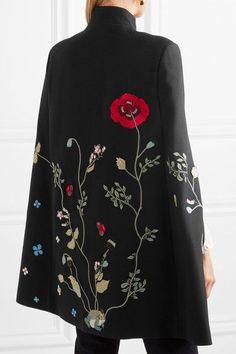 Vilshenko - Adelia Embellished Twill Cape - Black