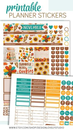Happy Planner Printable November Monthly Kit