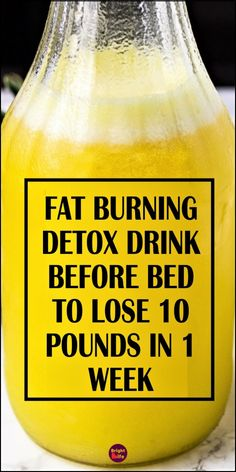 Fat Burning & Detox Drink Before Bed – To Lose 10 Pounds In 1 Week - FOOD! - Today we are going to share with you a magical fat burner bedtime detox drink, to lose 5 kgs in 1 w - Detox Drink Before Bed, Drinks Before Bed, Fat Burner Drinks, Fat Burning Detox Drinks, Fat Burning Smoothies, Drinks To Burn Fat, Best Fat Burner Pills, Fat Burner Smoothie, Body Detox Drinks