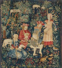 TAPESTRY, Renaissance, probably Northern France, circa Sold for CHF 60 000 Color inspiration for bench table Victorian Tapestries, Medieval Tapestry, Medieval Art, Renaissance Time, Renaissance Kunst, Botanical Illustration, Illustration Art, Medieval Manuscript, Tapestry Weaving