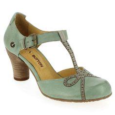 Chaussure Gold Button 9607 Bleu 4382301 pour Femme   JEF Chaussures