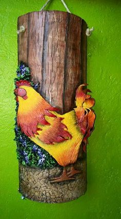 Taller Arte y Amor Free To Use Images, Mural Painting, Christmas Images, Biscuit, Wood Art, Primitive, Rooster, Stencils, Mosaic