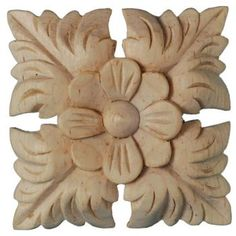 Buy this Square Classical Victorian Patera in wood - - from Wild Goose Carvings Wood Carving Designs, Wood Carving Patterns, Pillar Design, Wood Design, Thermocol Craft, Wood Appliques, Madhubani Art, Reno, Wood Engraving