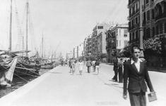 Βόλτα στη παραλία το 1943. The Turk, Thessaloniki, Sufi, Once Upon A Time, Old Photos, Greece, Street View, History, City