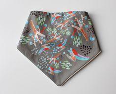 Baby bandana bib Abstract pattern painting for by WarmGreyCompany